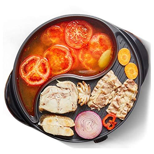 Elektrische bakblik elektrische grill Hot Pot, Nonstick pan, gemakkelijk te reinigen, geschikt voor kleine bijeenkomsten van 4-6 personen