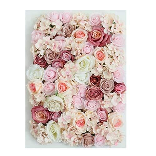 Ping- Pared De La Planta Artificial, Falsa Planta Verde Rosas Colgante De Pared Arte Floral, Boda Restaurante Creativo Pared De Fondo 40x60cm / Pieza 5 Colores (Color : C, Size : 4pack)