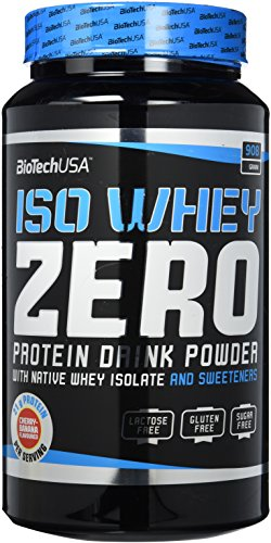 BioTechUSA Iso Whey Zero Premium Protein Isolat Pulver, 908g, Kirsche-Banane