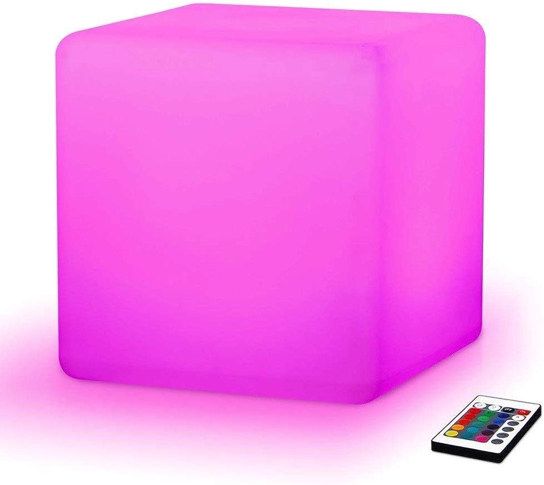 Paddia LED Cube Hocker, Outdoor Party Hocker, Kreatives Nachtlicht, Dekorative Beleuchtung Für Zuhause Kinder Nachttisch Schlafzimmer-16RGB Farbe 4 Helligkeit Verfrbung Wrme, Romantik, 30x30x30cm