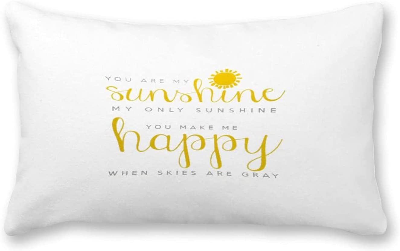 By Unbranded Canvas Pillow Max 44% OFF You Pill are My Ultra-Cheap Deals Sunshine Throw