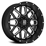 XD Series by KMC Wheels XD820 Grenade Satin Black Wheel with Painted Finish and Milled Spokes (22 x 9.5 inches /6 x 135 mm, 30 mm Offset)