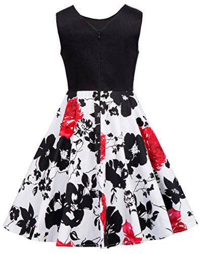 Niña Vestido Negro de Verano Corto para Cóctel Fiesta de Noche 6 Años CL600-3