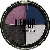 Palette di ombretti'Quatro' n ° 2, colori blu/malva