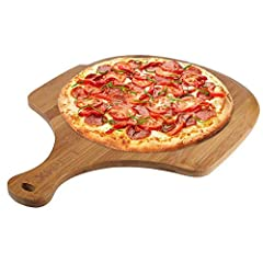 MADE OF BAMBOO: The healthy eating is the topic we often hear and talk about with each other in life, so we care you and your family's heath, the pizza peel is handmade of bamboo which is in high quality MULTI-PURPOSE FUNCTIONALITY: Our premium bambo...