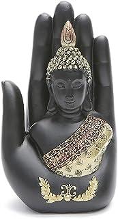 ZLBYB Buddha Statue Thailand Buddha Sculpture Green Resin Hand Made Buddhism Hindu Fengshui Figurine Meditation Home Decor...