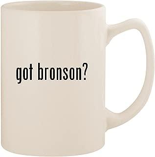 got bronson? - White 14oz Ceramic Statesman Coffee Mug Cup