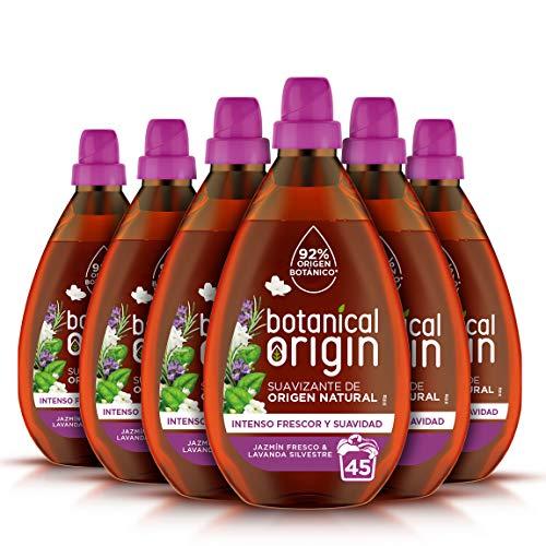 Botanical Origin Suavizante para Ropa Ecológico Apto para Pieles Sensibles, Fragancia Jazmín Fresco y Lavanda Silvestre - 270 Lavados