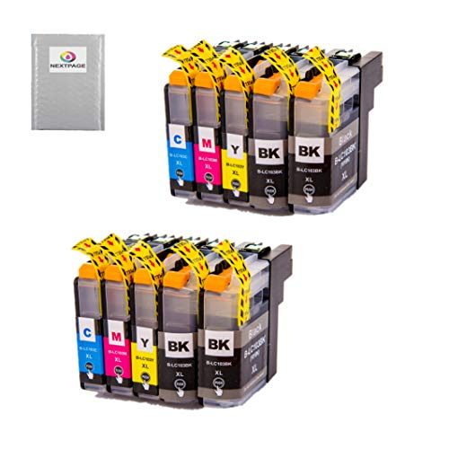 NEXTPAGE LC103xl Ink cartridges Replacement for Brother LC-103XL LC103XL LC103 XL 101XL LC101 LC 101 Work with Brother MFC J870DW J450DW J470DW J650DW J4410DW J4510DW J4710DW J6720DW Printer, 10 Pack