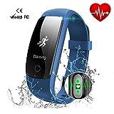 Braccialetto Fitness Activity Tracker HR Impermeabile Cardiofrequenzimetri Cardio Gps - Bl...