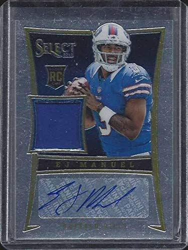 E.j. Manuel 2013 Panini Select Bills Rookie Jersey Auto Rc #d 336/399 - NFL Autographed Football Cards