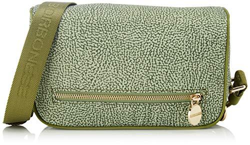 Borbonese Small, Borsa a Tracolla Donna, Verde (Verde Militare/Verd), 23x15x7 cm (W x H x L)