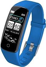 YZY Advanced Fitness armband tracker met hartslagmeter, informatiedrukwaterdichtheid & Multi-sport-modus, blauw