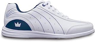 Brunswick 女式神秘保龄球鞋 - 白色/*蓝宽