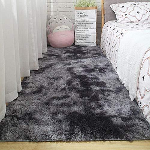 Woonkamer tapijt slaapkamer bed mat eenvoudig modern grijs huishouden vloerkleed zachte huidvriendelijke multi-zone gebruik deken, 3,40cm x 60cm