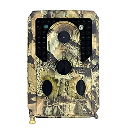 ZJJ Mini cámara de Vida Silvestre 12MP 1080P Cámara de monitoreo de Seguridad infrarroja HD con visión Nocturna y Lente de ángulo Ancho de 120 °, Adecuada para Exteriores e Interiores