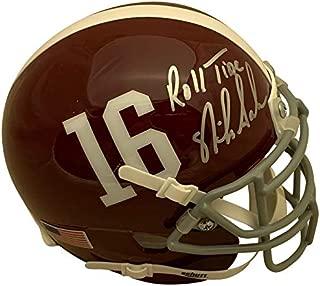 Nick Saban Autographed Alabama Crimson Tide Signed Football Mini Helmet ROLL TIDE PSA DNA COA