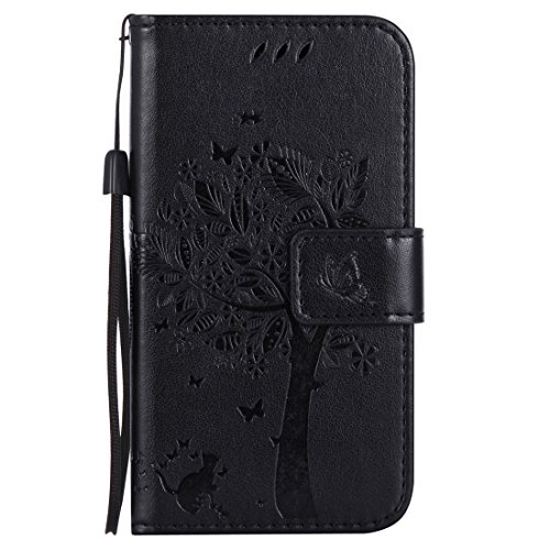 Nancen Compatible with Handyhülle Nokia 630/635 (4,5 Zoll) Flip Schutzhülle Zubehör Lederhülle mit Silikon Back Cover PU Leder Handytasche im Bookstyle Stand Funktion