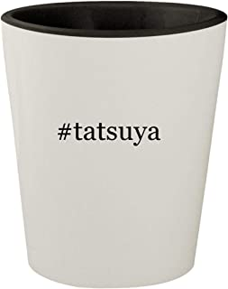 #tatsuya - White Outer & Black Inner Hashtag Ceramic 1.5oz Shot Glass
