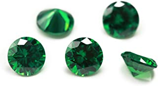 Audery Gems Round Shape 5A Emerald-Tone Green Color Cubic Zirconias Synthetic Gemstone for Jewelry Making (2.0mm 100pcs)