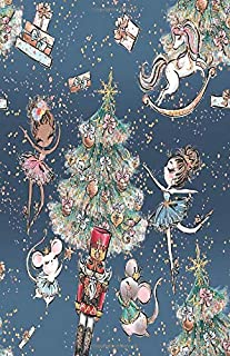 Dot Grid Journal Notebook: Nutrcracker Ballet Christmas Holiday Dancer Gift | Bullet Planner Book | Dotted Grid | 5.5 x 8.5