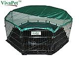 VivaPet - Gabbia ottagonale da esterno per conigli, cuccioli, gatti,...