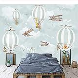 Sasdasld - Papel pintado para pared con diseño de globos de dibujos animados en 3D, para habitación de niños, respetuoso con el medio ambiente, para pintar en la pared de niños y dormitorios, papel de pared 3 D