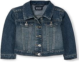 The Children's Place baby girls Denim Jacket School Uniform Coat, China Blue 6065, 6-9 Months US