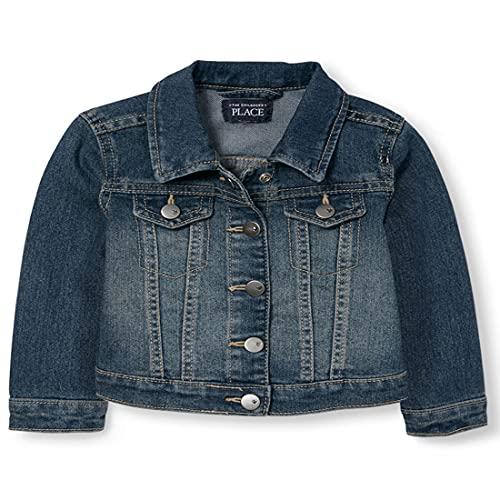 The Children's Place baby girls Denim Jacket School Uniform Coat, China Blue 6065, 9-12 Months US