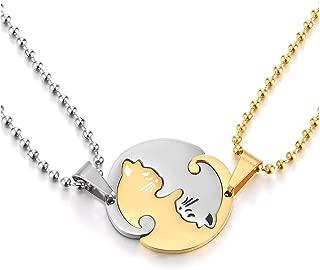 2 piece friendship necklaces