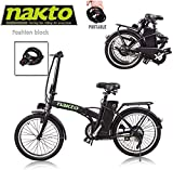 Santa Folding Electric Bicycle E-Bike for Adults 20' 250W for Man...