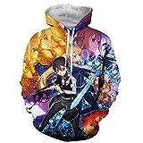 YJXDBABY-Sword Art Online-Suéter Impreso En 3D, Sudadera con Capucha Unisex, Suéter para Hombre, Ropa para Niños, Casual De Manga Larga, Sudaderas,Hoodies,Chaquetas-S