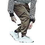VPASS Pantalones para Hombre Casuales Moda Trabajo Pantalones Pants Jogging Color sólido Fitness Pantalones...