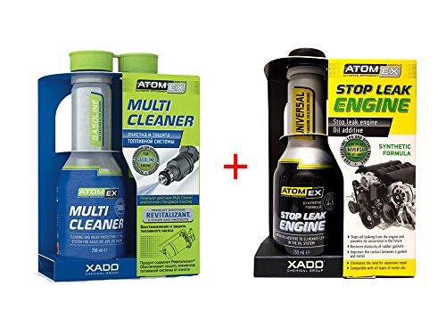 XADO Set 1 limpiador de inyectores para motores gasolina + tapa fugas sella fugas