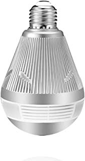 JIAX Bulb Light Wireless IP Camera Wi-Fi Fisheye 960P/3MP 360 Degree VR CCTV Camera 1.3MP Home Security WiFi Camera Panoramic