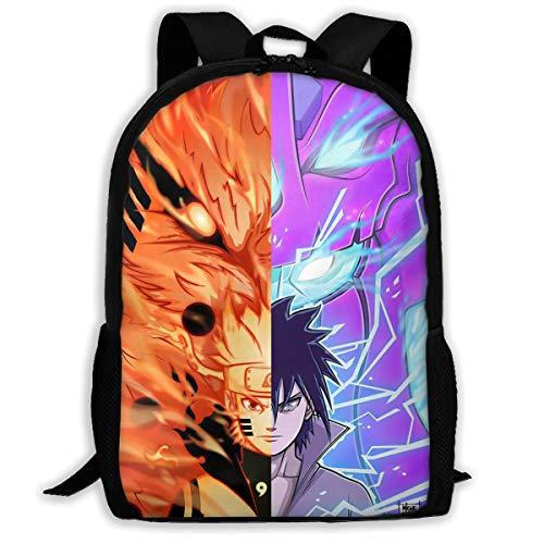 Anime Naruto Backpack School Bag 3D Print Bookbag Cartoon Book Bag -4