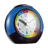 Atlanta 1678/5 - Despertador infantil (esfera colorida, cuarzo, silencioso, con luz, alarma y repetición de alarma)