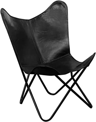 amazon brown leather arm chair butterfly leather butterfly 50s Diner Furniture festnight vintage butterfly chair real leather black