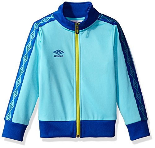 Umbro Girls Double Diamond Jacket, Blue Radiance/Lapis Blue, Medium