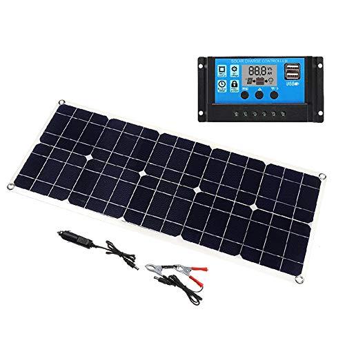 50W 5V / 18V Solarpanel Dual USB Ausgang Monokristallines Solarpanel IP65 Wasserdicht mit 10A Solarladeregler Regler für Auto Yachtbatterien Bootsladegerät