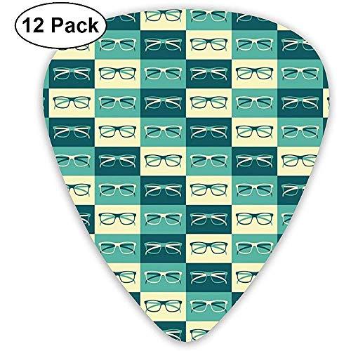 Brillen im Vintage-Stil Plektren, für einzigartige Akustikgitarren und E-Gitarren Bunte Plektren