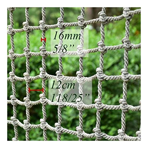 Climbing Net Bridge, Kids Adults Military Climbing Cargo Net Playground Garden Swing Set Rock Tree Rope Large Play Heavy Duty Nets Outdoor Swingset Safe Protection