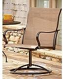 LivingXL Extra Heavy Duty Swivel Outdoor Chair (Khaki) - 650lb Capacity
