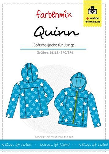 Farbenmix Quinn Schnittmuster (Papierschnittmuster für die Größen 86/92-170/176) Jungen Softshelljcke