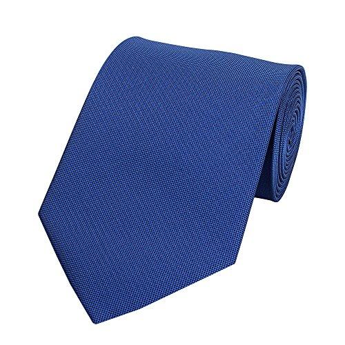Fabio Farini - Elegante Herren Krawatte gemustert in 8cm Breite in verschiedenen Farben für jeden Anlass wie Hochzeit, Konfirmation, Abschlussball Kariert Blau Schwarz