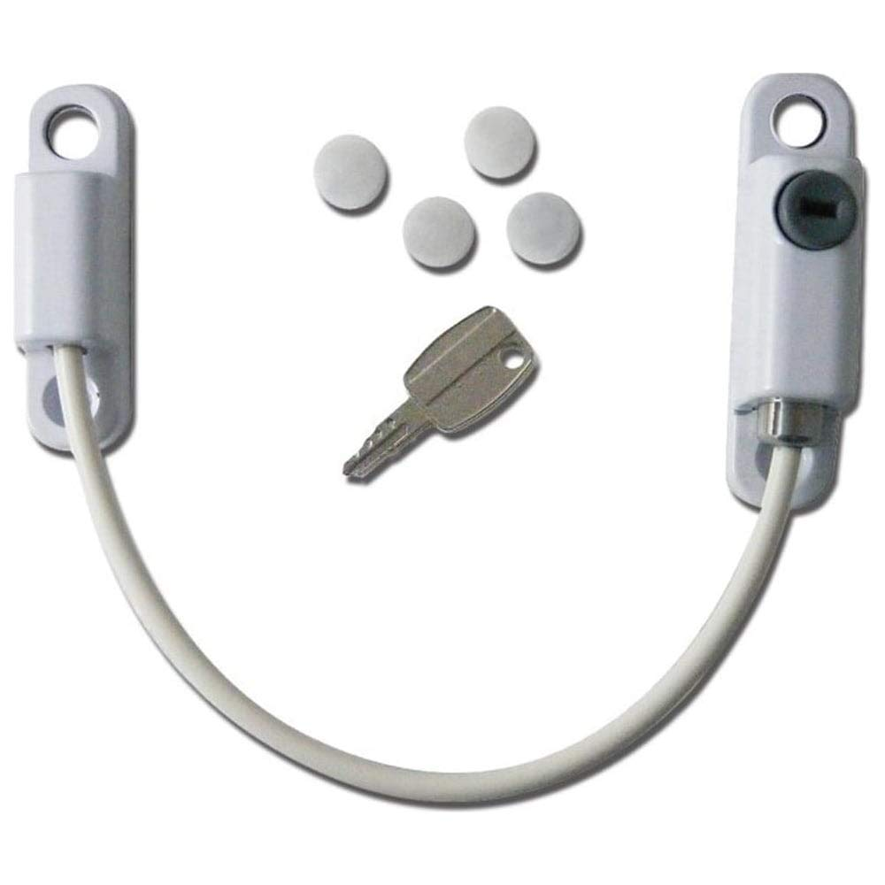 White Cardea Pro Lock Child Safety Cable Window Opening Restrictor Lock uPVC Suitable 1