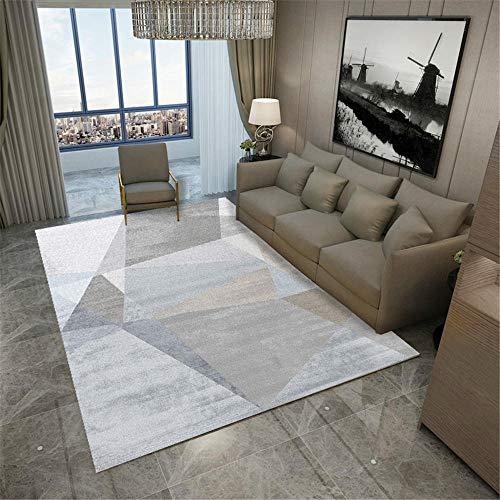 Outside Carpet grey Carpet salon gray fuzzy geometric pattern multi-size carpet anti-slip Rug For Bedroom 160X230CM Garden Carpet Waterproof 5ft 3''X7ft 6.6''