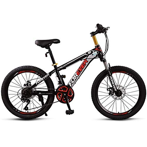 Gq2019 Children Bicycle 20 Inches Bicycle Bike Mountain BIK Male and Female Students Outdoor Brake Damping Speed Adjustab (Color : B, Size : 22 inches)