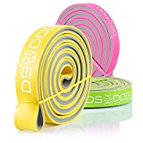 DS DOG Set of 3 Dual Color Resistance Bands - with eGuide Durable Workout Equipment - Compact, Effective and Versatile Latex Exercise Bands for Training at Home, Gym, Outside