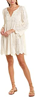 Womens Silk-Blend Shift Dress, M, White